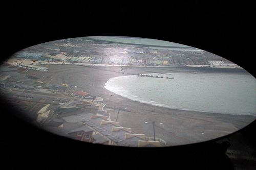A view inside the Aberystwyth Camera Obscura