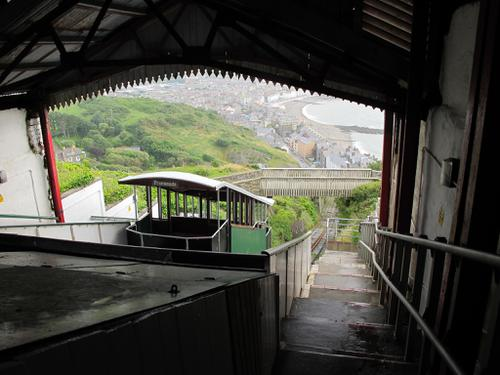 The view from the Aberystwyth Cliff Railway