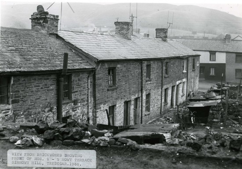 Building demolished in Tredegar during the 1960s