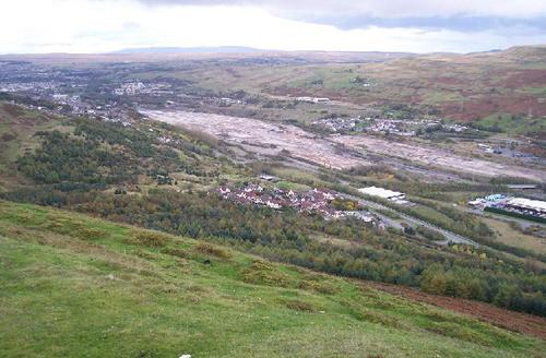 The site of the demolished Ebbw Vale Steel Works in 2005