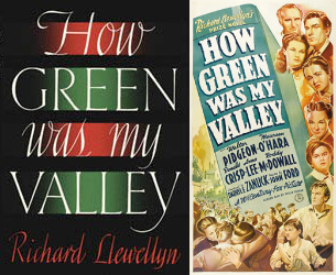 How Green was My Valley novel cover (left) and movie poster (right)