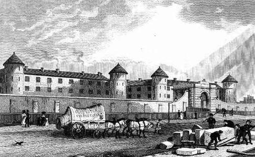 Millbank Prison in the 1820s