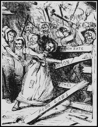 The Rebecca Rioters portrayed in an 1843 Punch cartoon